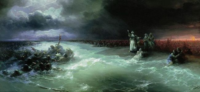 """Passage of the Jews through the Red Sea"""